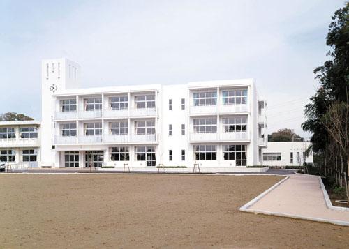自転車道 自転車道場 千葉 : 野田市 福田第第二小学校校舎